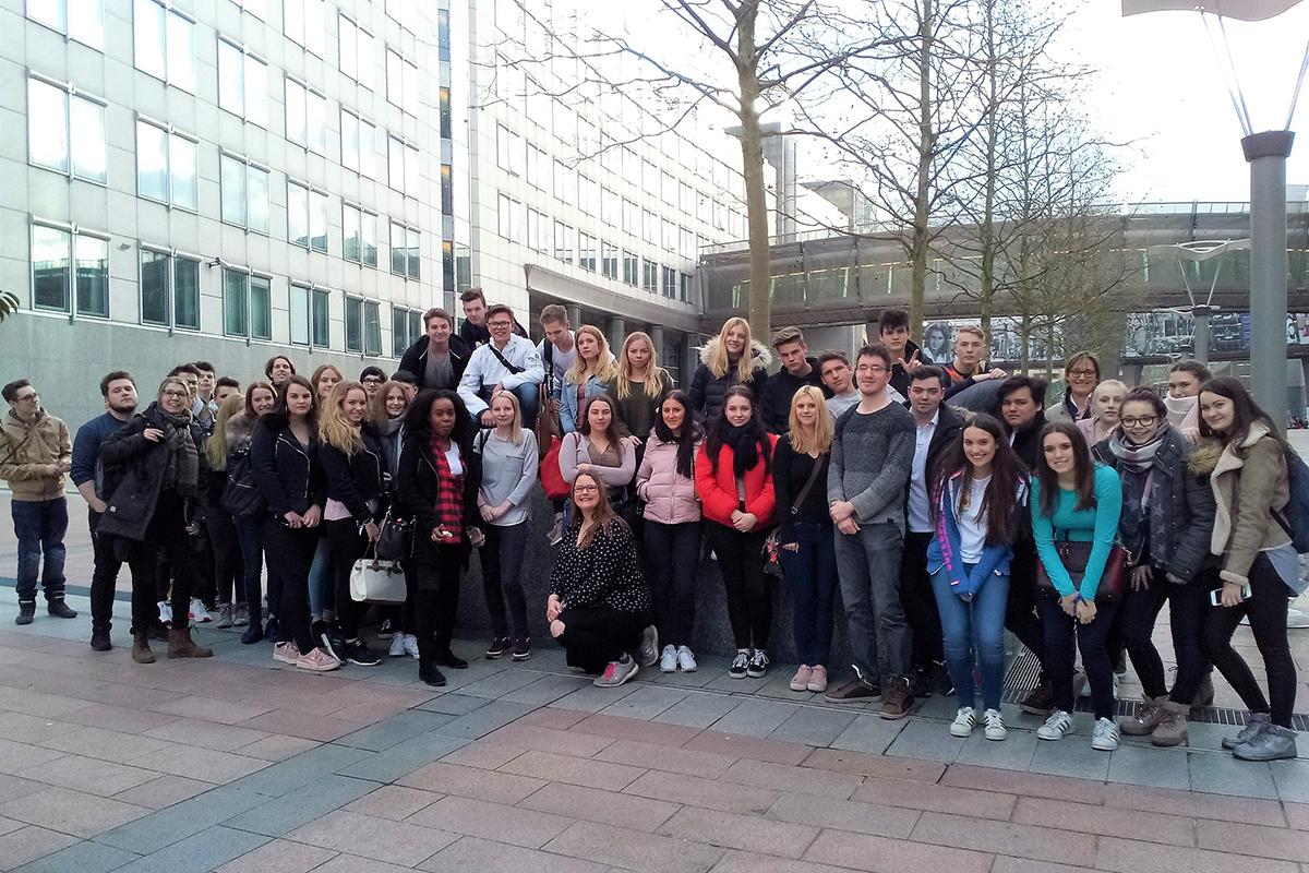 zu Besuch im europäischen Parlament